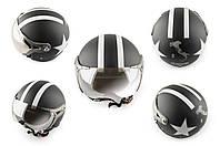 Шлем открытый (с очками и козырьком, size:XL, черный) BEON