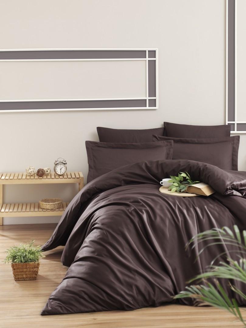 Комплект постельного белья First Choice Сатин Люкс Snazzy cikolota