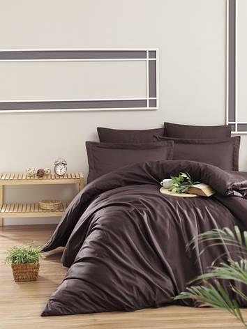 Комплект постельного белья First Choice Сатин Люкс Snazzy cikolota, фото 2