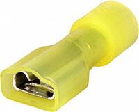 Наконечник кабельный соединительный изолированный 4-6 мм.кв. (мама) жёлтый (100 шт) E.NEXT