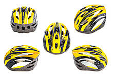 Мотошлем, Мотоциклетный шлем  кросс-кантри (бело-желтый) DS