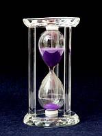 Песочные часы в стеклянном корпусе круглые Фиолетовый песок