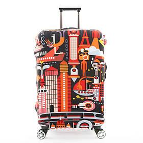 Защитный Чехол для чемодана Городская абстракция + другие модели