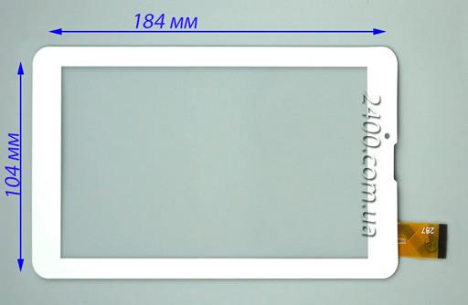 Тачскрин сенсор Explay S02 3G белый 30pin 184*104 мм - тест 100%