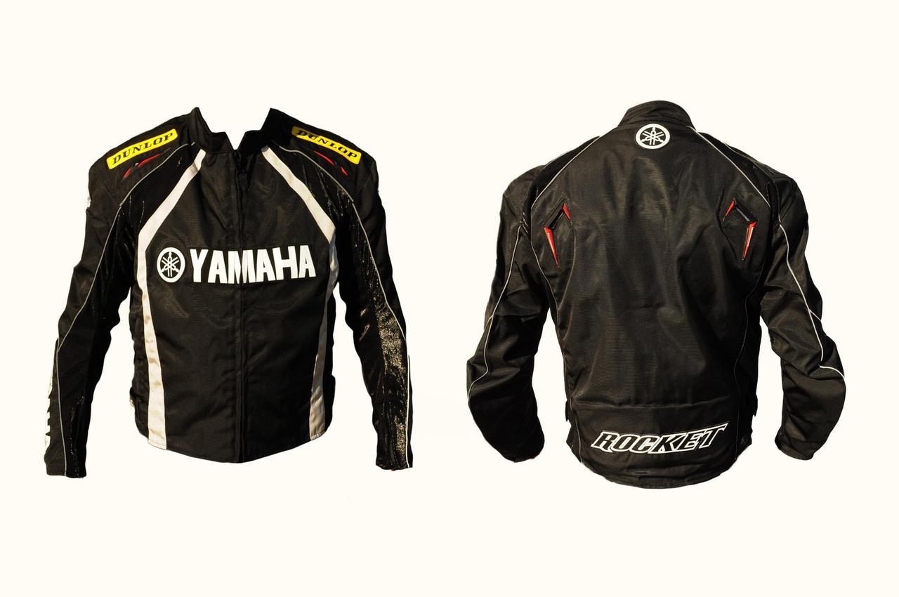 Мотокуртка Ямаха (Yаmaha) (текстиль) (mod:1, Размер:L, синяя)