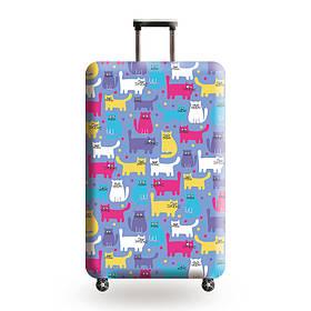 Защитный чехол для чемодана Разноцветные котики и другие модели