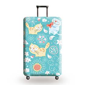 Защитный чехол для чемодана Добрые котики и другие модели