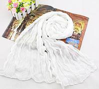 Женский шарф 138х72 см Белый АL703015, КОД: 1493493