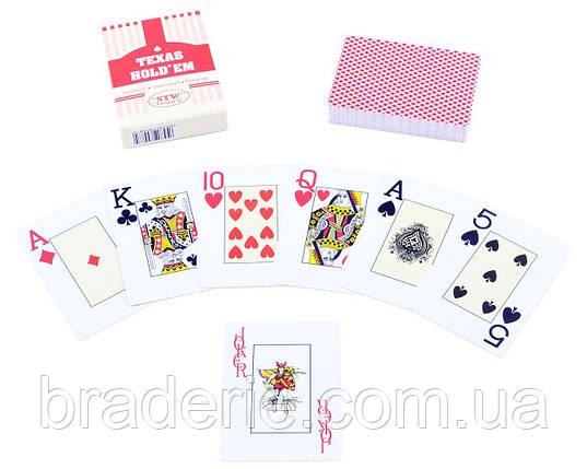 Игральные карты колода 54 штуки Texas Holdem 395-2 пластик, фото 2