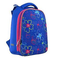 Рюкзак шкільний каркасний 1 Вересня H-12 Vivid flowers Синій 556038, КОД: 1247913