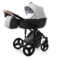 Детская коляска 2 в 1 Tako Junama Modena 02 Светло-серая с черным 13-JM02, КОД: 287196