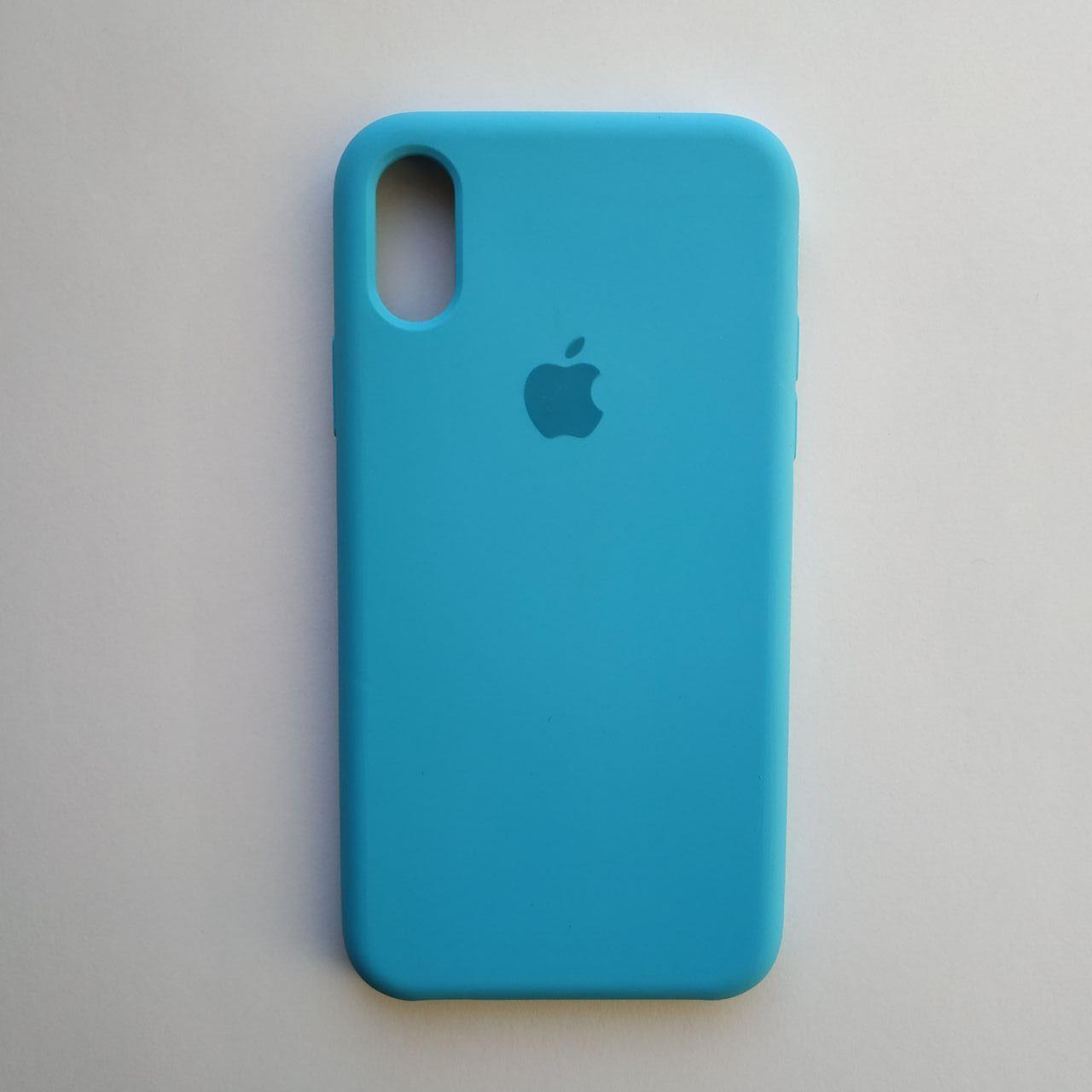 Чехол Silicone Case для Apple iPhone X, XS Sky Blue