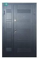 Двери входные Пу 132 серый горизонт 1200 улица