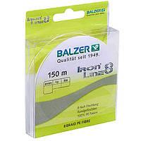 Шнур Balzer Iron Line 8x Yellow 150м 0.24мм  19,5кг (желтый)