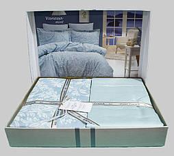 Комплект постельного белья First Choice Сатин Люкс Vanessa Mint, фото 2