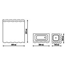 Шторка для ванной Q-tap Tessoro PA85826 200х200, фото 2