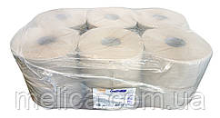 Туалетная бумага Soffi PRO Basic JTP из макулатуры (1 слой, 1440 листов) на гильзе - 12 рулонов