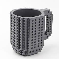 Чашка-конструктор SUNROZ в стилі іграшки 350 мл Сірий SUN3778, КОД: 1372363