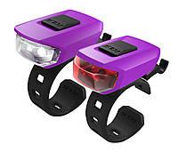 Комплект мигалок KLS VEGA USB Violet 8585019396136, КОД: 1349469
