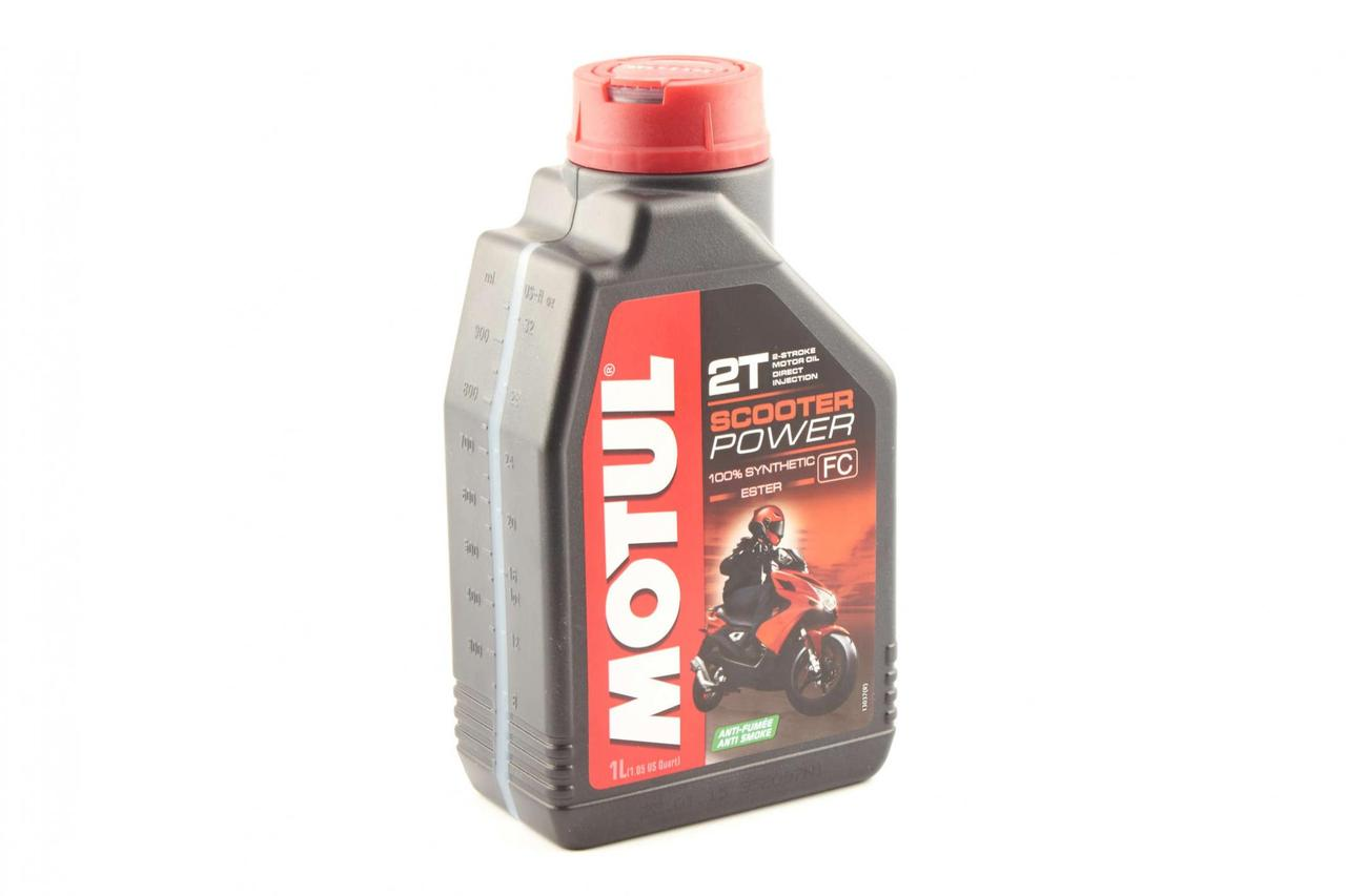 Масло 2Т Двухтактное, 1л (синтетика, Scooter Power, API TC) MOTUL (#105881)