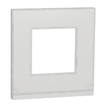 Рамка 1-пост. Unica Pure Біле скло/білий