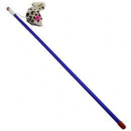 Игрушки для котов удочка-дразнилка с мышкой, 30 см