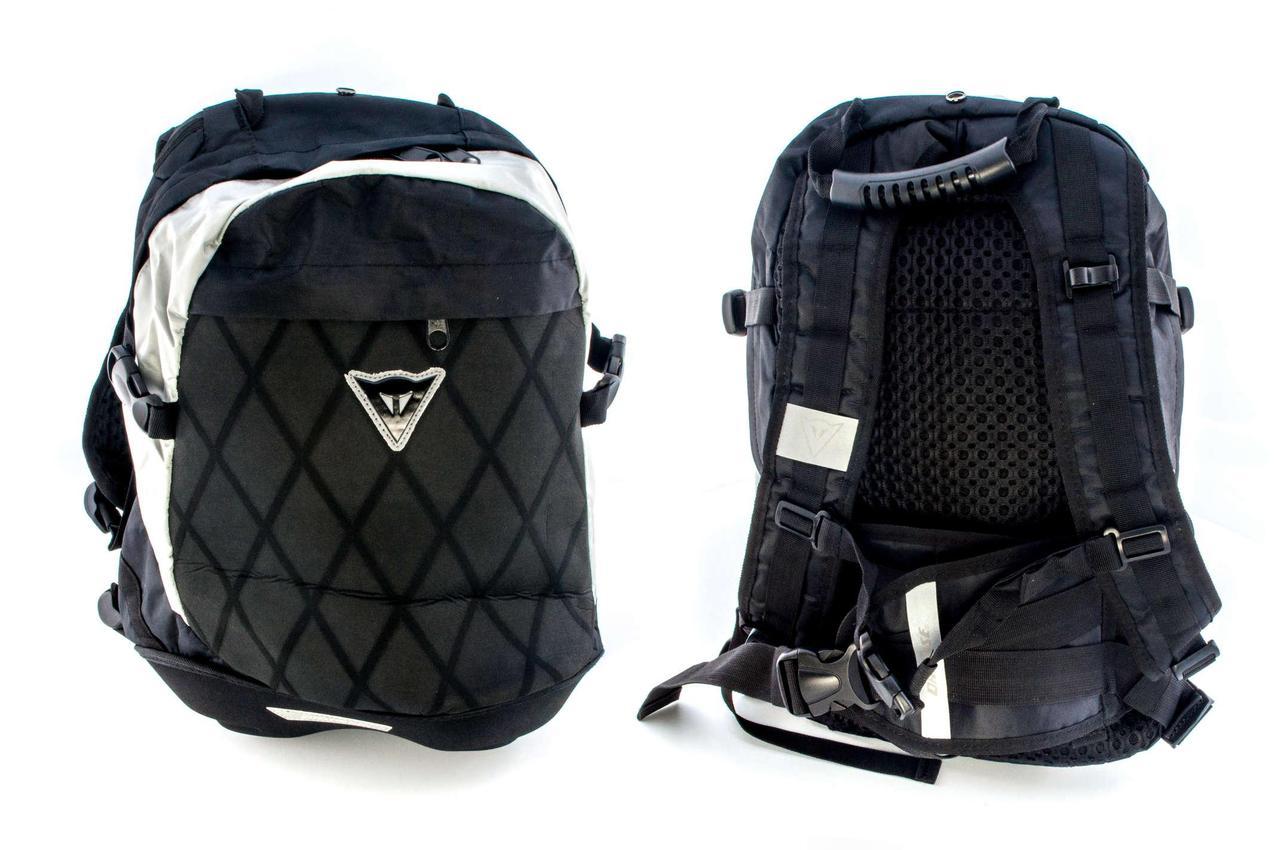 Моторюкзак, мотоциклетный рюкзак (черный, рисунок красные иероглифы)