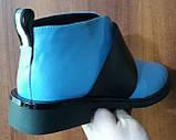 Ботинки демисезонные на низком каблуке из натуральной кожи от производителя модель БФ230-5, фото 3