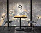Cтолы для кафе и ресторанов из массива дерева, опоры из металла, фото 7