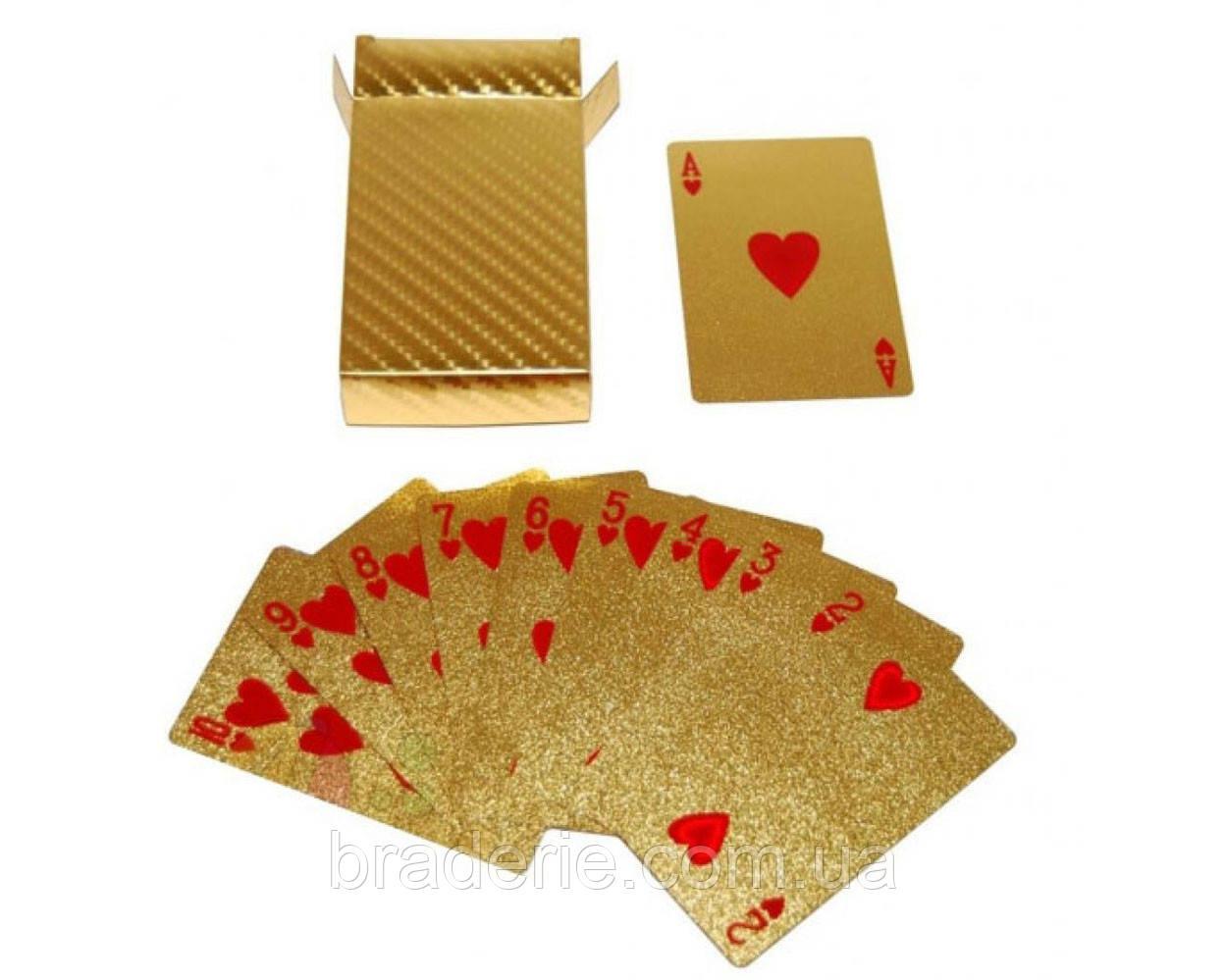 Игральные карты колода 54 штуки Gold 408-7 пластик