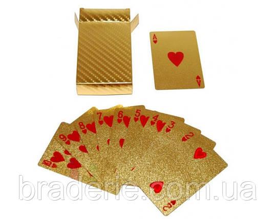 Игральные карты колода 54 штуки Gold 408-7 пластик, фото 2