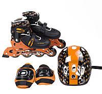 Роликовые коньки Nils Extreme NJ082 Set Size 28-31 Black Orange NJ082S-BOS28-31, КОД: 354526