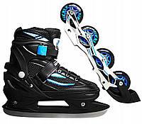 Роликовые коньки SportVida 4 в 1 SV-LG0029 Size 35-38 Black Blue SV-LG0029, КОД: 354603