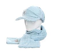 Женская кепка+шарф Голубой AL799034, КОД: 1493449