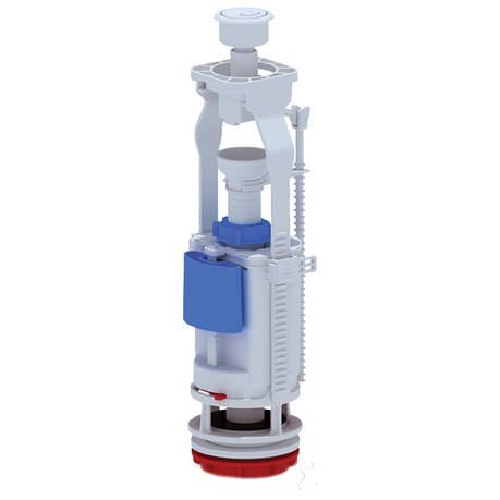 Арматура ANI Plast WC7050C двухуровневая, регулируемая без клапана, хромированная кнопка, фото 2