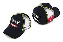 Бейсболка (Мото кепка) Кавасакі (KAWASAKI) (чорно-сіра, motocard)
