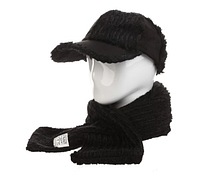 Женская кепка+шарф Черный AL799032, КОД: 1493359