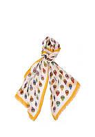 Женский шарф Moschino 3317 Бело-оранжевый 2900056540018, КОД: 1452758
