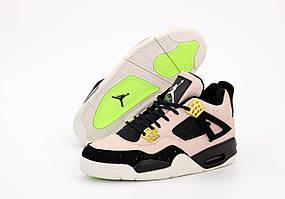 Баскетбольные кроссовки Nike Air Jordan 4 Retro (Найк Аир Джордан Ретро 4 кожаные высокие кроссовки)