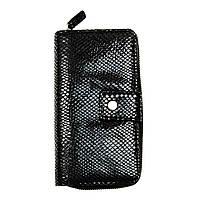 Кожаный женский кошелек-клатч Locker RFID защитой Purse4 Snake Черный hubSVyZ48193, КОД: 1349262