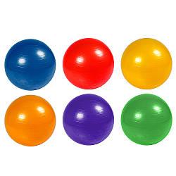 М'яч гумовий для фітнесу фітбол BT-SFB-0010 (30шт) 75 см, 1100 г, 4 види, у пак.