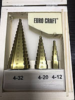 Ступінчасті свердла EURO CRAFT 3шт
