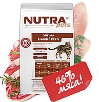 Cухой корм для взрослых котов с рыбой и ягненком NUTRA pets Feline Adult OPTIMA Lamb&Fish 3 кг