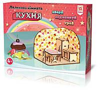 Деревянный 3Д конструктор Зірка Комната с мебелью Кухня 309713, КОД: 313909