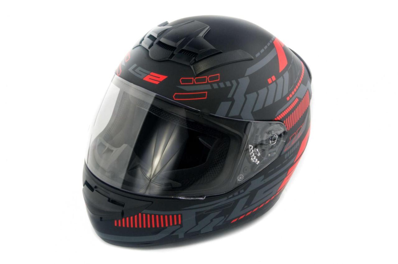 Мотошлем, Мотоциклетный шлем Интеграл (full-face) (mod:FF352) (Размер:XXL, черно-серый, ROOKIE) LS-2