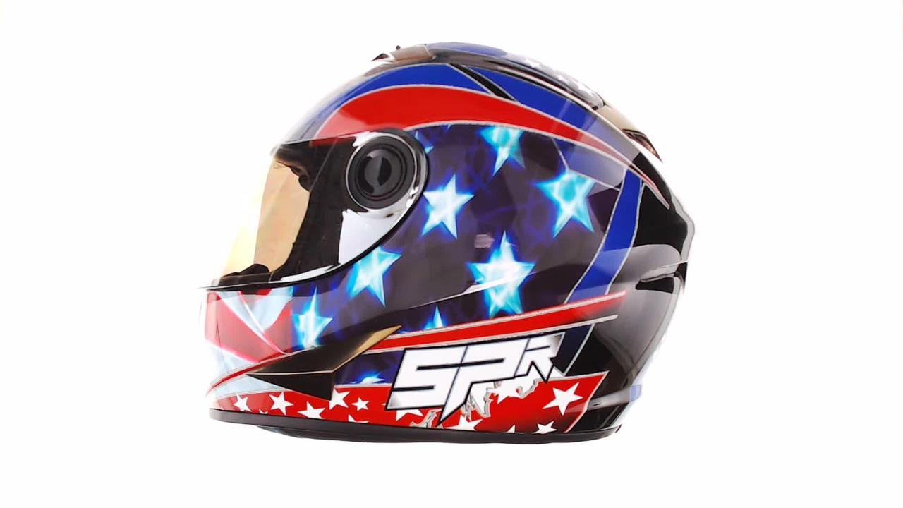 Мотошлем, Мотоциклетный шлем Интеграл (full-face) (mod:B-500) (Размер:XL, черно-красно-синий) BEON