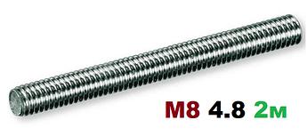 Шпилька резьбовая М8 4.8 2000мм