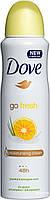 Дезодорант аерозольний жіночий Dove Go Fresh  grapefruit & lemongrass scent 150 мл.