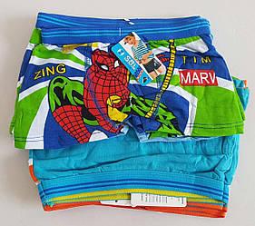 Детские трусы шортиками «Человек Паук» для мальчиков от 4 до 10 лет (10 шт)