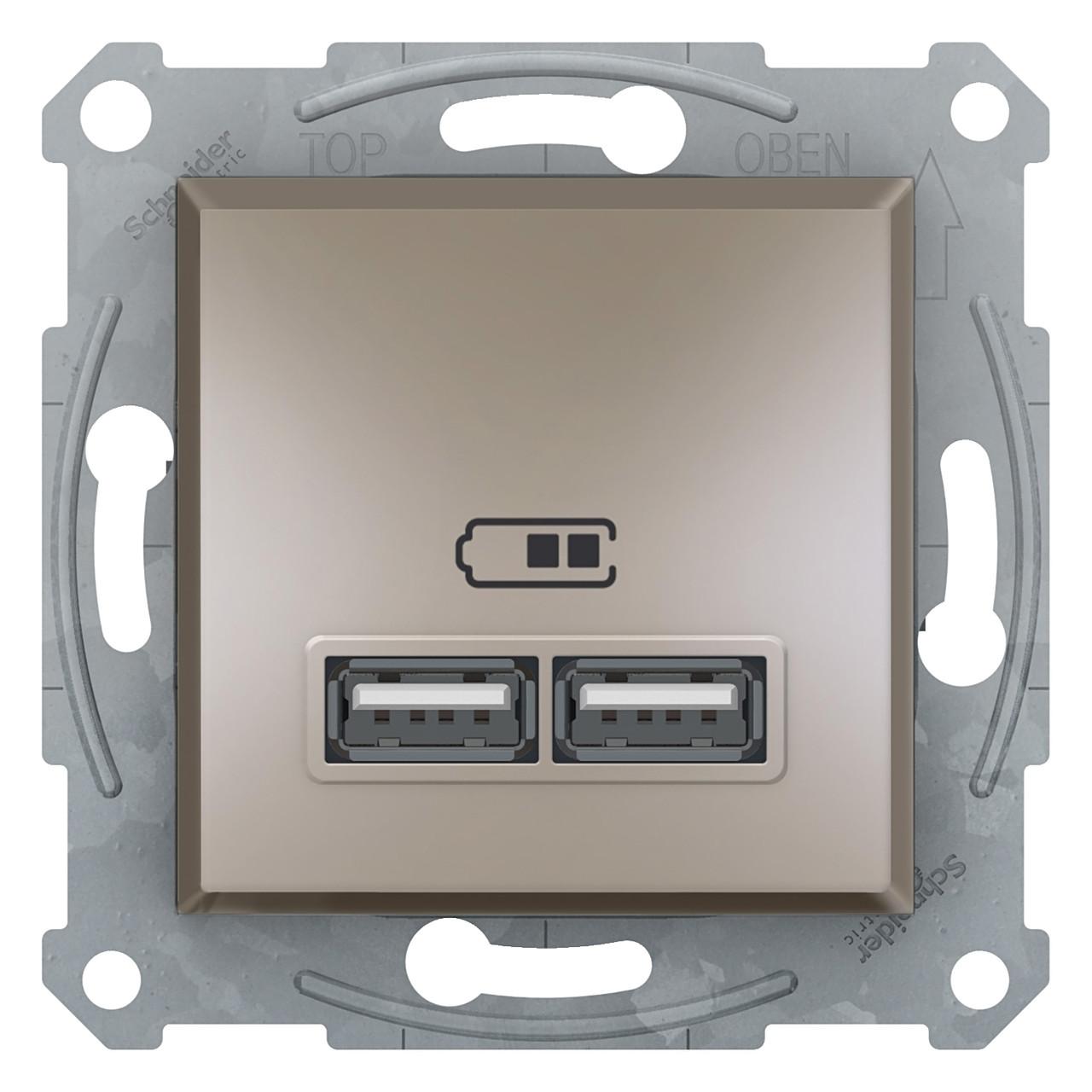 USB розетка 2,1A бронза Asfora